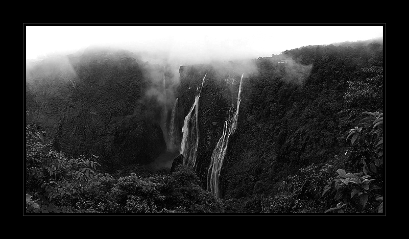 Jog Falls Panorama  | Fine Art | Creative & Artistic Nature Photography | Copyright © 1993-2017 Ganesh H. Shankar