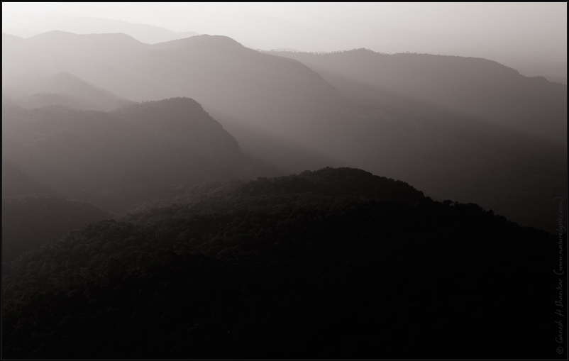 Western Ghats of India  in Black and White | Fine Art | Creative & Artistic Nature Photography | Copyright © 1993-2016 Ganesh H. Shankar