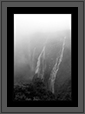 Jog Falls - Cloud Cover  | bw Fine Art Nature Photography