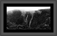 Jog Falls Panorama  | bw Fine Art Nature Photography