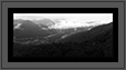 Western Ghats Landscape - Panaromic view  | bw Fine Art Nature Photography